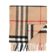 Burberry The Classic Check Cashmere Scarf Camel