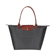 Longchamp Large Le Pliage Tote Bag Gun Metal