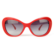 Chanel Women's Sunglasses Red/Transparent