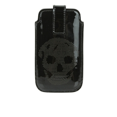 Alexander Mcqueen Perforated Skull Iphone Se Phone Case Black