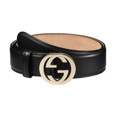 Gucci Leather Belt With Interlocking G Black (1.5 Inch)
