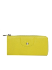 Longchamp Zip Around Wallet Yellow