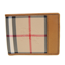 Burberry Horseferry Check Bi-Fold Wallet Tan