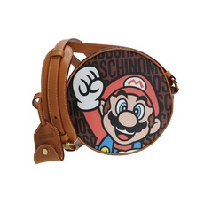 Moschino 'Super Moschino' Mario Crossbody Bag Brown