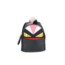 Fendi Bag Bugs Backpack-Shaped Bag Charm Black