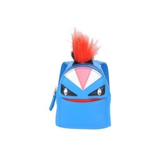 Fendi Bag Bugs Backpack-Shaped Bag Charm Royal Blue