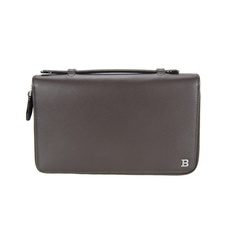 Bally Travel Organizer Wallet Dark Brown