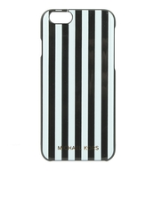Michael Kors Striped Iphone 6/6S Phone Case Black/White