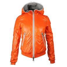 Duvetica Hooded Two Way Zip Down Jacket Orange