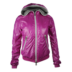 Duvetica Hooded Two Way Zip Down Jacket Purple