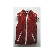 Duvetica Hooded Two Way Zip Down Vest Red