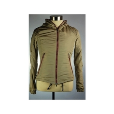 Duvetica Hooded Two Way Zip Jacket Beige