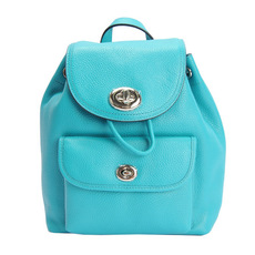 Coach Calfskin Backpack Blue