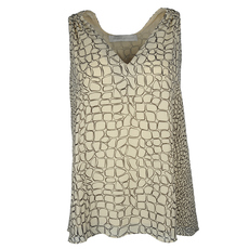 Proenza Schouler Geometric Patterns Sleeveless Top Beige