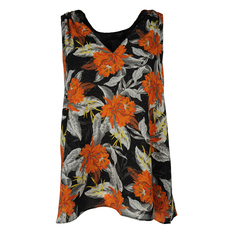 Proenza Schouler Floral Print Sleeveless Top Black