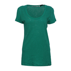 Proenza Schouler Scoop Neck T-Shirt Sea Green