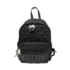 Moschino Medium Quilted Backpack Black/Black