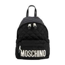 Moschino Medium Quilted Backpack Black/Sliver