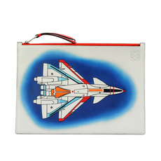 Loewe Airplane Pouch Bag White