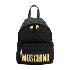 Moschino Medium Quilted Backpack Black/Gold