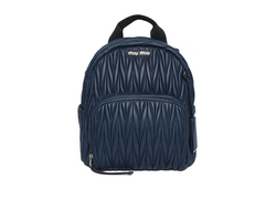 Miu Miu Denim Backpack Blue
