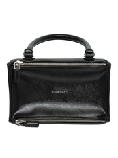 Givenchy Pandora Patent Small Tote Bag Black