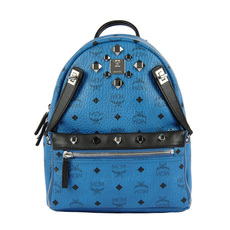Mcm Dual Stark Small Backpack Blue