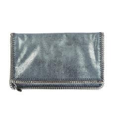d1d7f38b5abf Stella Mccartney Faux Leather Clutch Silver Grey