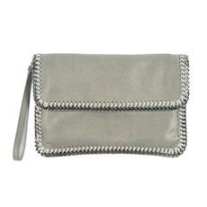 71eaebec71d5 Stella Mccartney Faux Leather Clutch Grey