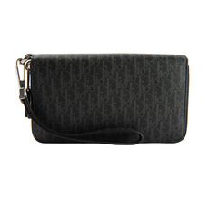 Dior Homme Double Zip Around Wallet Black/Grey