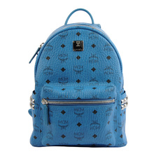 Mcm Side Stud Stark Small Backpack Blue