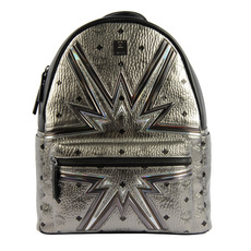 Mcm Dual Stark Cyber Flash Medium Backpack Silver