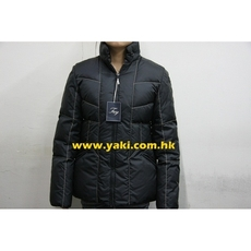 Fay Zip On Down Coat Black