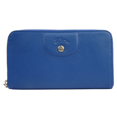 Longchamp Zip Around Wallet Blue