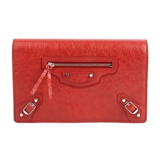 Balenciaga Classic Chain Wallet Red