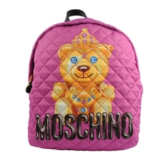 Moschino Crowned Teddy Backpack Light Pink