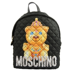 Moschino Crowned Teddy Backpack Black