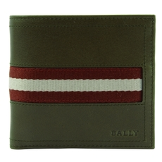 Bally Bi-Fold Wallet Olive Green