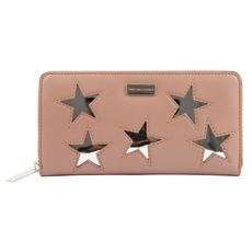 Stella McCartney Metallic Star Zip Around Wallet Pink