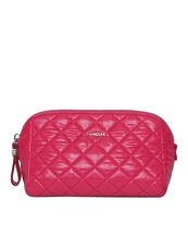Moncler Quilted Large Cosmetic Pouch Fuchsia