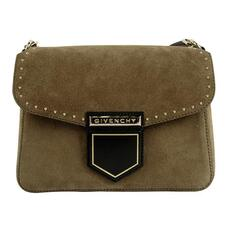 Givenchy Mini Nobile Suede Crossbody Bag Olive Green