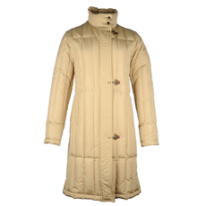 Fay Double Zip With Stud Down Coat Beige