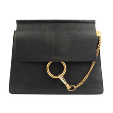 Chloe Faye Shoulder Bag Black