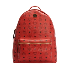 Mcm Stark Classic Medium Backpack Ruby