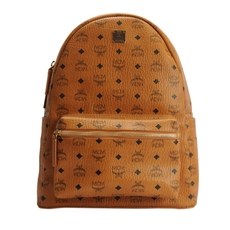 Mcm Stark Classic Medium Backpack Cognac