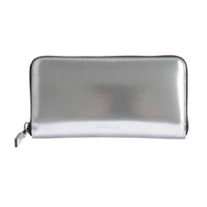 Christian Dior Zip Around Wallet Silver