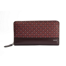 Bally Zip Around Wallet Red