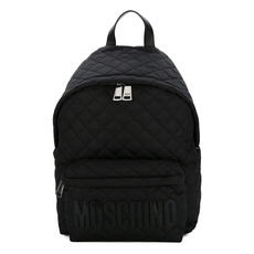 Moschino Large Quilted Backpack Black/Black