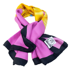 Moschino Crowned Teddy Scarf Pink