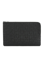 Loewe Double Flat Pouch Bag Black